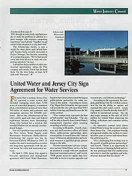 United Water teams with Jersey City